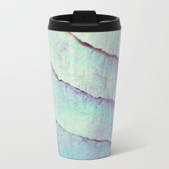 IRIDISCENT SEASHELL MINT by Monika Strigel Metal Travel Mug