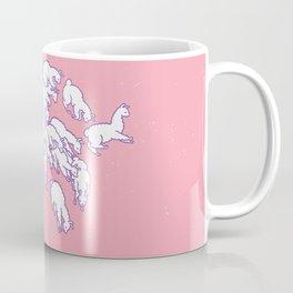 Llama Waves in Pink Coffee Mug