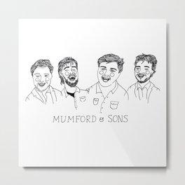 M & Sons Metal Print