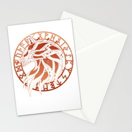 A Red Wolf Viking Stationery Cards