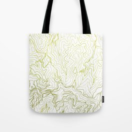 Secret places I - handmade green map Tote Bag