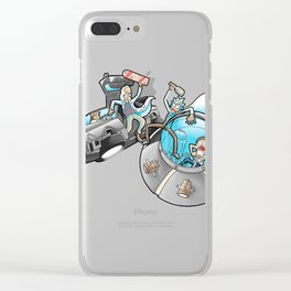 Rick and Morty-Back to the future Clear iPhone Case