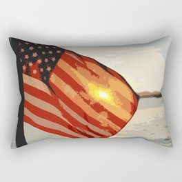 Patriot's Sunset Rectangular Pillow
