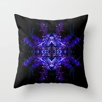 swimming Throw Pillows featuring Swimming... by Cherie DeBevoise