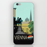 vienna iPhone & iPod Skins featuring Visit Vienna by Duke Dastardly