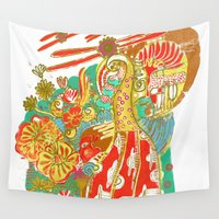 voyage Wall Tapestries featuring Voyage by Estela Gaspar