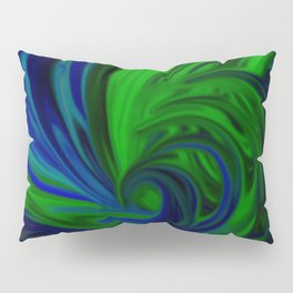 Blue and Green Wave Pillow Sham
