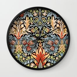 Snakeshead William Morris Pattern Wall Clock