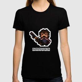 Graves, The Pixel Gunslinger T-shirt