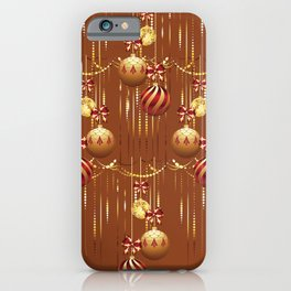 Christmas glass balls iPhone Case