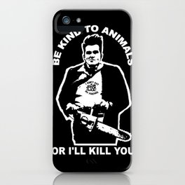 MOZANGELES CHAINSAW MASSACRE iPhone Case