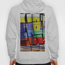 Colorful container wall board Hoody