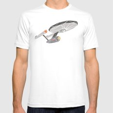 The Enterprise White LARGE Mens Fitted Tee