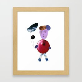 Water balloons Framed Art Print