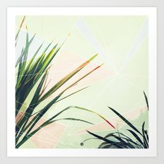palm and triangles Art Print