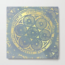 power of one: coal grey & gold Metal Print