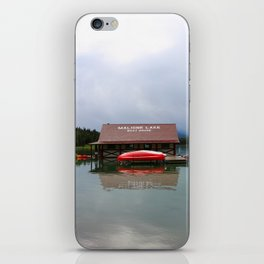 Maligne Lake Boathouse iPhone Skin
