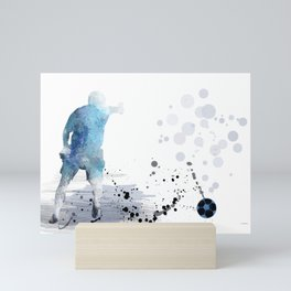 Soccer Player 6 Mini Art Print