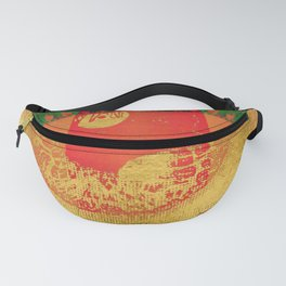Passion - Abstract Eye Coral Metallic Fanny Pack