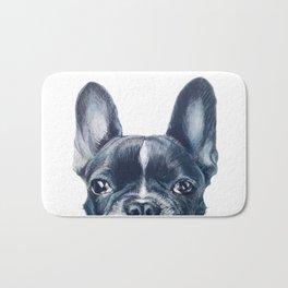 French Bull dog Dog illustration original painting print Bath Mat