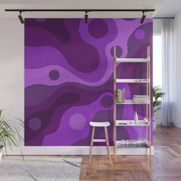 Groovy Psychedelic Purple Lava Shag Design Wall Mural