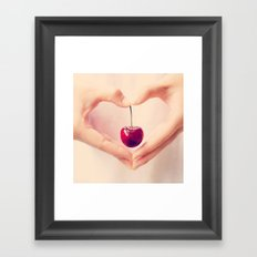 Cherry Love!  Framed Art Print