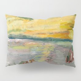 Beach Landing in pastels Pillow Sham