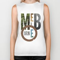 melbourne Biker Tanks featuring Melbourne by Virbia