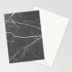 Gray marble abstract texture pattern Stationery Cards