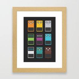 Guitar Effects Framed Art Print