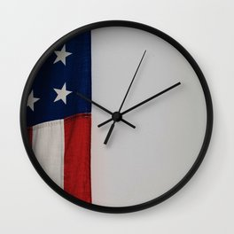 Side Flag (Color) Wall Clock