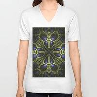 egyptian V-neck T-shirts featuring Egyptian Gold by Brian Raggatt