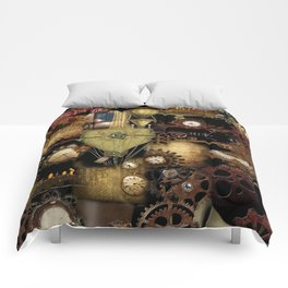 STEAMPUNK COLLAGE No. 1 Comforters