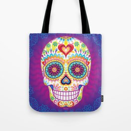 Sugar Skull Art (Luminesce) Tote Bag