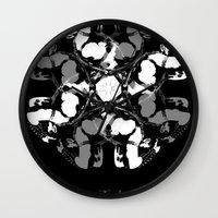 leather Wall Clocks featuring LEATHER by muckypets