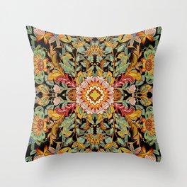 Mandala Fire Dance  Throw Pillow