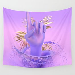 Purple Pointer Wall Tapestry