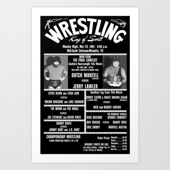 #16-B Memphis Wrestling Window Card Art Print