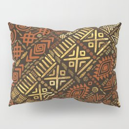Ethnic African Pattern- browns and golds #5 Pillow Sham