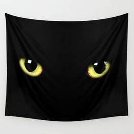 Black Cat Wall Tapestry