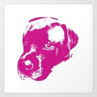 English Mastiff Pop Art Art Print