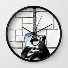 Be Your Song and Rock On in White Wall Clock
