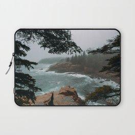 Foggy Morning in Acadia National Park Laptop Sleeve