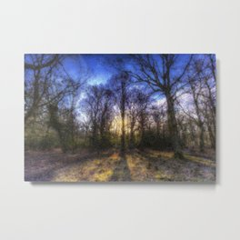 The Early Morning Pastel Forest Metal Print