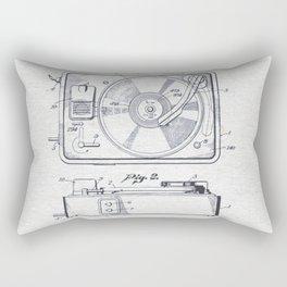 Record player 1950 Rectangular Pillow