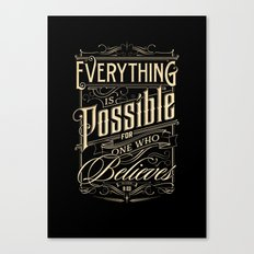 Everything is Possible Canvas Print