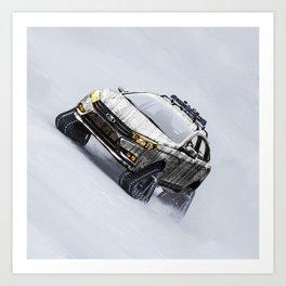 Lada Vesta on track Art Print