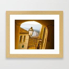 Sperlonga: Beach View Framed Art Print