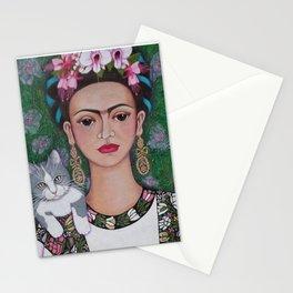Frida cat lover Stationery Cards