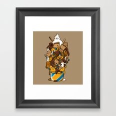 Ice Cream Time Framed Art Print